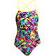 Funkita Strapped In One Piece Swimsuit Girls Spray On